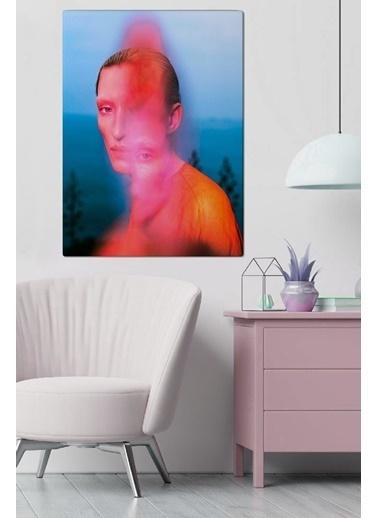 MarkaEv Canvas Kadın Portre Tablo 0077 Renkli